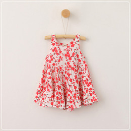 Wholesale Holiday Clothing Girl - Everweekend Girls Ruffles Floral Print Sundress Princess Leisure Style Summer Holiday Clothing