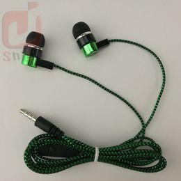común barato serpentina Tejido trenza cable auricular auriculares auriculares earcup ventas directas por fabricantes azul verde 300ps / lot desde fabricantes