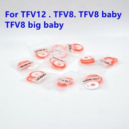 Wholesale O Ring Sets - Silicone O ring Colorful Silicon Seal O-rings replacement Orings Set for Smok Smoktech TFV12 TFV4 TFV8 TFV8 baby Sub Ohm Tank Rba Rta
