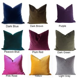 Wholesale Home Decoration Ship - Free Shipping High-end Solid Classical Luxury Velvet pillow case cushion cover for sofa vintage look home decoration throw