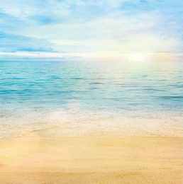 Wholesale Paint Photo Backdrop - 10ft Beach Photo Studio Backgrounds Beautiful Sunrise Blue Sky Seawater Summer Backdrop Wedding Camera Photography Wallpaper Props