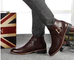 2019 sapatos qiu QUENTE!! 2016 Qiu dong homens botas de alta ajuda edição han apontou Martin botas Uma tendência aumentada de sapatos masculinos de lazer botas curtas sapatos qiu barato
