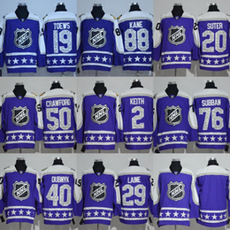Wholesale Factory Outlet Men s Toews Kane Suter Crawford Keith Subban Laine Blank Blue NHL All Star Game hockey Jersey