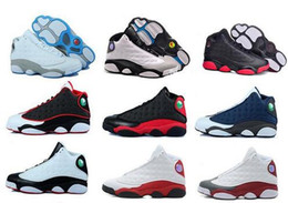 Wholesale Plastic Lawns - 2017 High Quality Retro 13 Bred Chicago Flints Men Women Basketball Shoes 13s DMP Grey Toe History Of Flight All Star Sneakers kids 36-47