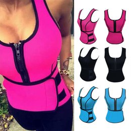Wholesale Firm Corset Belt - New Neoprene Waist Trainer Corset Sweat Belt Vest Sauna Workout Top Vest with Adjustable Waist Trimmer Weight Loss Slimming Shapewear