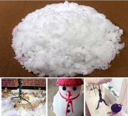 Wholesale White Snowflake Tree Ornaments - 2017 Christmas Props Snow Decorations Artificial snowflake Snow scene layout Safe non-toxic Christmas tree Decorate 10g Free Shipping