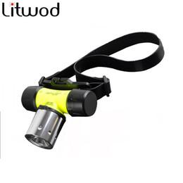 Wholesale underwater headlight - Underwater 2800 Lumen XM-L XML T6 Headlamp LED Waterproof 60m Swimming Diving Headlight Dive Head Light Torch Lamp