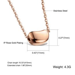 Wholesale Bean Pendant Necklace - 2016 Woman Necklace Magic Bean Pendant Rose Gold   Silver Plated Stainless Steel Link Chain Women Sexy Collarbone Jewelry AAMGX984