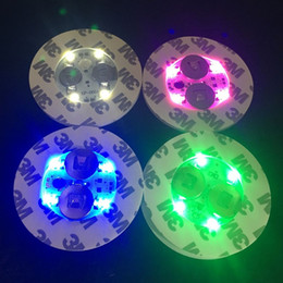 Wholesale Dhl Base - LED Light For Glass Bong Base LED Light 7 Colors Automatic Adjustment in stock OVER 100Pcs free DHL