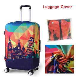 Wholesale Protective Covers For Luggage - Travel Luggage Suitcase Protective Cover for Trunk Case Apply to 19''-32'' Suitcase Cover Elastic Perfectly Anti-Dust Cover