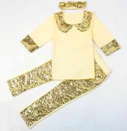 Wholesale Hot Babys - 2017 Hot Sale Babies Clothes For Babys Most CHIC Toddler Boutique Items Sequin Blank Pattern Baby Clothes Wholesale