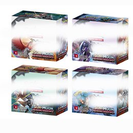 Wholesale Pokemon Games Cards - 2018 NEW 324pcs lot Poke Monsters BURNING SHADOWS SUN&MOON Cards Games 4 Styles Anime Pocket Monsters Cards Toys Children Card Toys