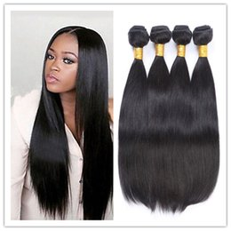 Wholesale Christmas Hair Bundles - Big Christmas Deals Brazilian Virgin Hair Straight 4 Bundles 8A Straight Hair Weave Websites Tissage Bresilienne Straight Hair