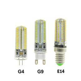 Wholesale 24 Ac Power - High Power LED E14 G4 G9 SMD3014 3W 6W 8W 9W 12W AC 110V 220V DC12V 24 48 64 72 104 leds lighting light Crystal bulbs