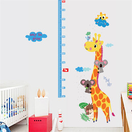 Wholesale Height Measure Growth Ruler - [Casterlyrock] Giraffe Height Measure Ruler Wall Sticker Removable Sticker Creative Art Mural Home Decor Adesivo de Pared Large 60x90cm pc
