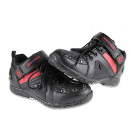 Wholesale Shoes For Bikes - NEW! SPEED BIKERS Motorcycle Dirt Bike Moto Racing Leather Boots Motocross Motorbike Shoes for boy friend best gifts