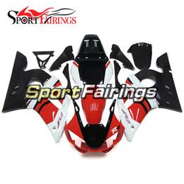 Carenagens para Yamaha YZF600 R6 YZF-R6 98 - 02 1998 1999 2000 2001 2002 Injeção ABS Plástico Branco Vermelho Preto Motocicleta Carenagem Kit de Fornecedores de ninja zx6r para venda