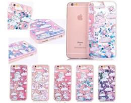 Étui de protection rapide pour lit de paillettes liquides arc-en-ciel de licorne Rainbow Shell pour iPhone 6 6S 7 Plus S6 S7 EDGE ? partir de fabricateur
