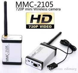 Wholesale Wireless Camera Av Transmitter - World's First mini MMC-2105W HD 720P Digital covert wireless camera AV Transmitter Sender specific button camera 3G 4G wifi Lawmate