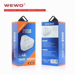 Wholesale Dock Usb Retail - WEWO 5V 2.1A Universal Dual USB Travel Charger White Cell Phone Cover Chargers UK Plug Iphone 6 Chargers Cables Iphone 7 with retail package