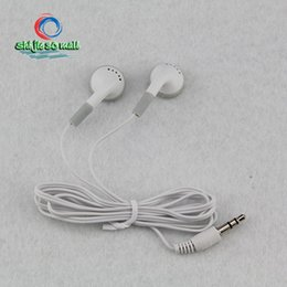 Wholesale Cheap Headphones For Pc - Cheapest disposable earphones headphone headset for bus train plane school one time use Earbuds 3.5mm cheap Large use low price 2000 pcs