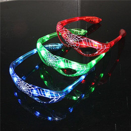 Hot Spiderman LED Luz Piscando Óculos Presente Elogio Máscara de Dança de Natal do Dia Dos Namorados Dias Presente Novidade LED Óculos Led Rave Toy Partido Óculos de Fornecedores de grinaldas iluminadas por atacado