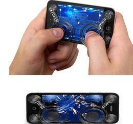 2019 almohadilla de juegos para móviles Hot Creative Game Joysticks Dual Stick Control Handle Mobile Joystick Pantalla Transparente Sucker Rocker para Smartphone Celular Pad almohadilla de juegos para móviles baratos