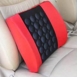 Wholesale Auto Back Pillow - Electrical Massage Car Seat Back Relief Lumbar Pain Back Support Pillow Headrest Waist Safety Chair Cushion For Auto Vehicle