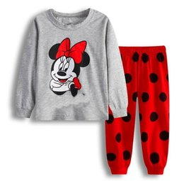 Wholesale Pajama Years - 2-7 years Girls kid pajama winter Children's pajamas for children boys home leisure girl Cartoon cute cotton Longsleeve Pyjamas