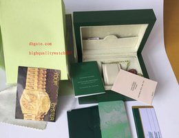 Wholesale Paper Bag Tags - Factory Supplier Green Brand Original Box Papers Gift Watches Boxes Leather bag Card 84mm*134mm*185mm 0.7KG For 116610 116660 116710 116613