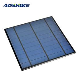 Diy mp3 online-Aoshike 5V 4.5W Epoxy Panel Solar Panel fotovoltaico Célula solar policristalina Mini Sun Power Módulo de energía DIY Solar Sistem