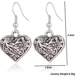 Wholesale Restored Antique - Contracted hollow out of carve patterns or designs on woodwork restoring ancient ways love earrings more than 40 pairs antique silver dropli