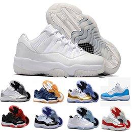 Wholesale University Rubber - 2017 air retro 11 men Basketball Shoes low university blue Navy Gum Blue GS HEIRESS Metallic Gold Varsity Red Barons Sneakers sports shoes