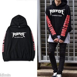 Wholesale Tyga Sweatshirts - Wholesale- Purpose Tour Hoodies Men Justin Bieber Purpose Tour Hoodie Kanye Streetwear Brand Sweatshirts Men Swag Tyga Hoodie