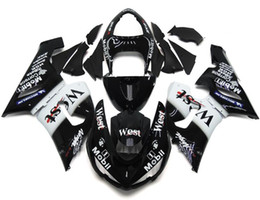 Wholesale West Fairings - New Motorcycle Fairings Kit For Kawasaki ZX6R ZX-6R 05 06 Ninja 636 2005 - 2006 ABS Covers Fairing Cowling best Black white west