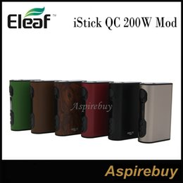 Wholesale Charge Mod Battery - Eleaf iStick QC 200W Mod QC BOX Mod 5000mAh Built-in Battery Cell Balancing Trickle Charge System Match with Melo 300 Tank 100% Authentic