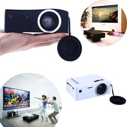 Wholesale Android Home Tv - Wholesale-2016 Hot Sale Mini Projector TV Led Video LED Beamer Home Theater HDMI Android Projeksiyon