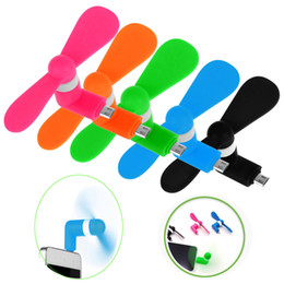 Wholesale Multi Color Fan - New Multi-Color USB Mini Micro USB Fan Portable 5Pin Flexible Fan For Android Phone With Package