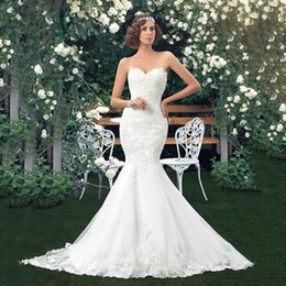 Wholesale China Wedding Dress Factory - NE022 Mermaid Wedding Dress fish style White Lace with Belt 2017 China Wedding Factory Sell Tailored Made Bride Gown