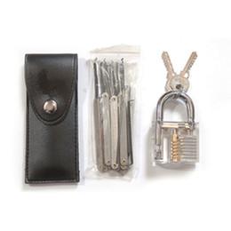 escolha a ferramenta renault Desconto Cadeados práticas transparentes com 12pcs desbloqueio bloqueio picareta conjunto de ferramentas extrator de chave de bloqueio ferramentas de prata