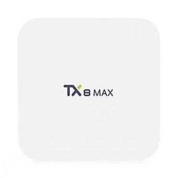 Wholesale Hd Max - Tanix TX8 MAX Android 6.0 Marshmallow Amlogic S912 TV BOX 3G 16G 802.11ac WIFI Bluetooth 1000M LAN