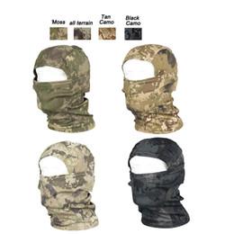 Equipo de tiro online-Equipo para deportes al aire libre Equipo de tiro de Paintball de Airsoft Protección facial completa Máscara con patrón Natura Táctico Airsoft Camuflaje Capucha