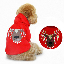 Wholesale Red Dog Christmas Sweater - New Red Christmas Holiday LED Light Up Sweater Hoodie Costume Dog Pet Durable, lovable Hand washable