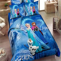 Promotion Brand Frozen Bedding Sets Elsa Anna Literie Housse de couette Ensemble de lit Lit Twin / Full / Queen / King Literie pour enfants Literie à partir de fabricateur