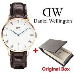 Wholesale Thin Quartz Watches - Roman numerals Fashion Men Watches Top Luxury Brand Business Casual Leather Quartz watch Mens Ultra Thin Wristwatches Clock Male
