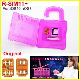Wholesale Wholesale Sim Cards For Gsm - Rsim 11+ r sim 11+ RSIM11+ r sim11+ plus unlock card for iPhone 7 plug iphone 6 unlocked iOS 10.x-7.x 4G CDMA GSM WCDMA SB AU SPRINT