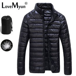 Wholesale Thin Winter Jackets - Wholesale- Winter Duck Down Jacket Ultra light Men 90% Coat Waterproof Down Parkas Fashion mens Outerwear coat 5011