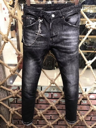 Wholesale United Style - Europe and the United States top quality of the bullet holes low waist tight new jeans real picture # 152