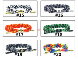 Wholesale Tie Sets China - 49 Colors Braiding Lion Galaxy Shoelace Sport Bracelets Wristband Adjustable Ties Couples California Rastaclat Bracelet can Mix Styles
