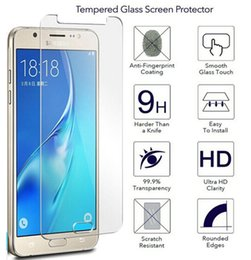 Wholesale Galaxy S3 Front Screen Glass - 50PCS LOT TEMPERED GLASS SCREEN PROTECTOR , 9H HARDNESS SCREEN GUARD FILM PROTECTOR FOR SAMSUNG J7 J5 A3 A5 SMART PHONES , NO RETAIL PACKAGE